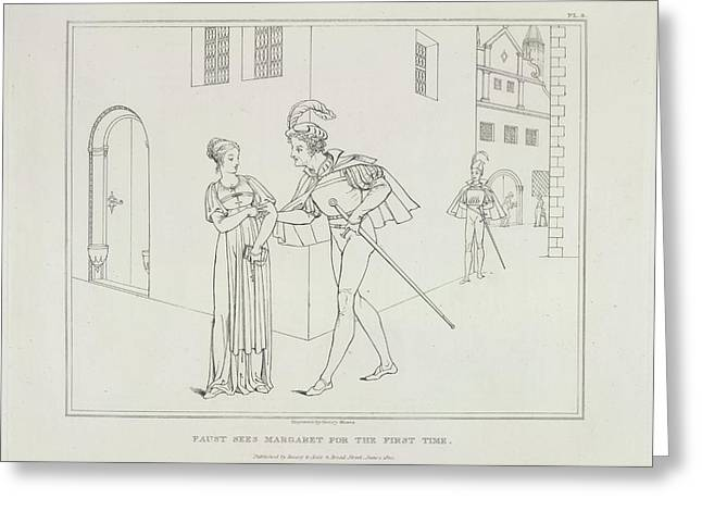 Faust And Margaret Greeting Card by British Library