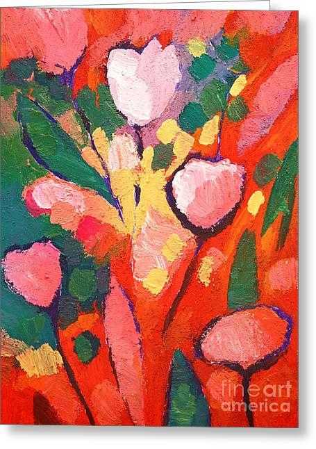 Painted Flowers Greeting Cards - Fauve Flowers Greeting Card by Lutz Baar