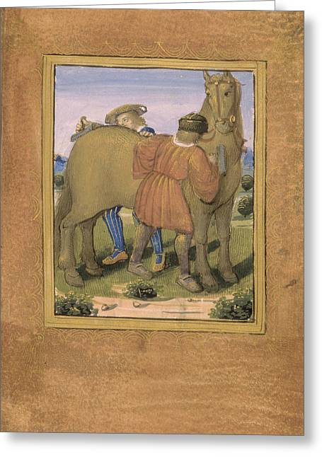 Fauveau; To Curry Favour Greeting Card by British Library