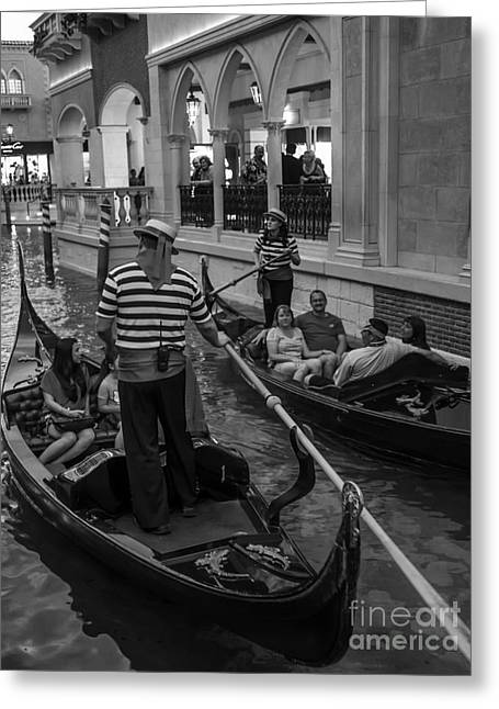 Gondolier Photographs Greeting Cards - Faux Venice Las Vegas 2013 Greeting Card by Edward Fielding