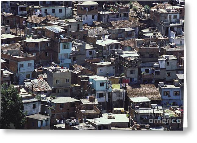 Impoverished Greeting Cards - Favela In Rio De Janeiro Greeting Card by Tim Holt