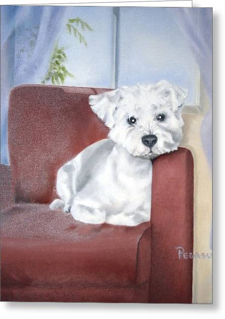 Favorite Chair Greeting Card by Beverly Pegasus