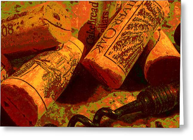 Cakebread Greeting Cards - Favorite Corks Greeting Card by Doug Edmunds