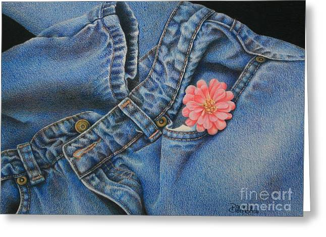 Favorite Jeans Greeting Card by Pamela Clements