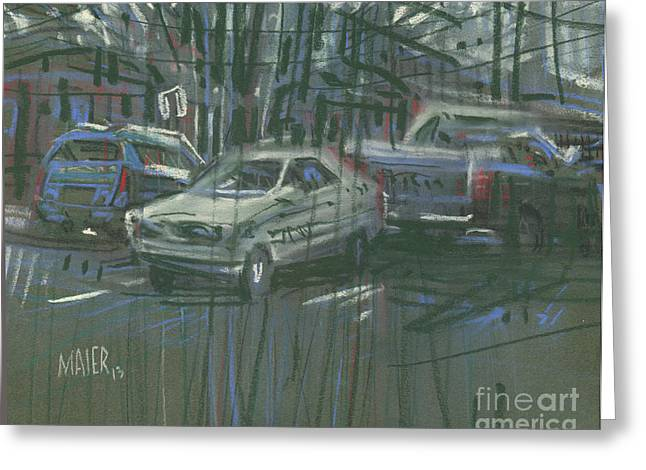 Parking Greeting Cards - Favorite Parking Spot Greeting Card by Donald Maier