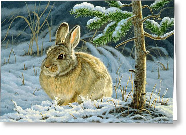 Favorite Place - Bunny Greeting Card by Paul Krapf