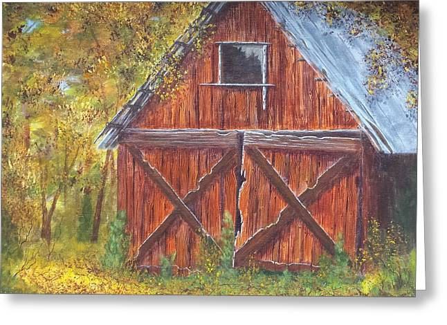 Barn Door Greeting Cards - Favorite Place Greeting Card by Xochi Hughes Madera