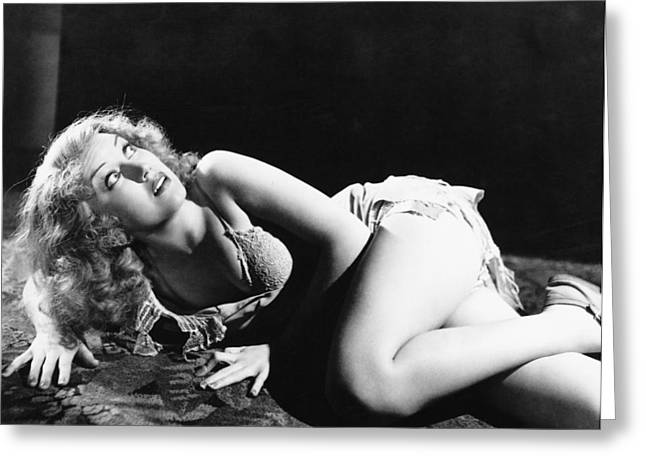 King Greeting Cards - Fay Wray in King Kong  Greeting Card by Silver Screen