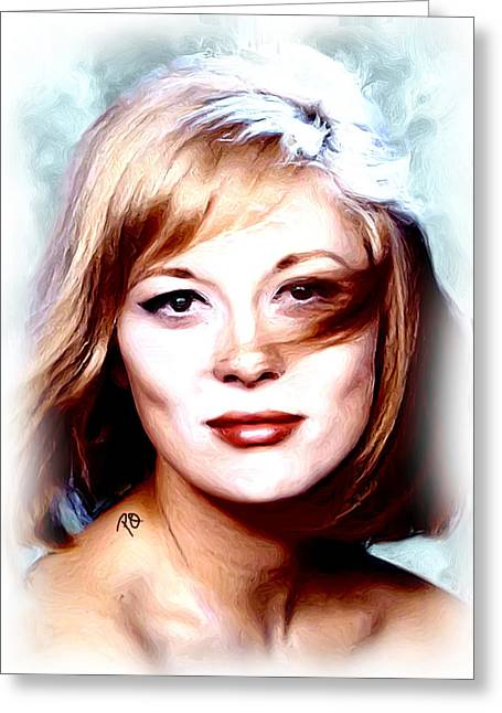 Dunaway Greeting Cards - Faye Dunaway Greeting Card by Paul Quarry
