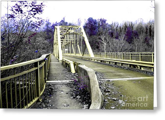 Fayette Station Bridge Greeting Card by Amy Sorrell