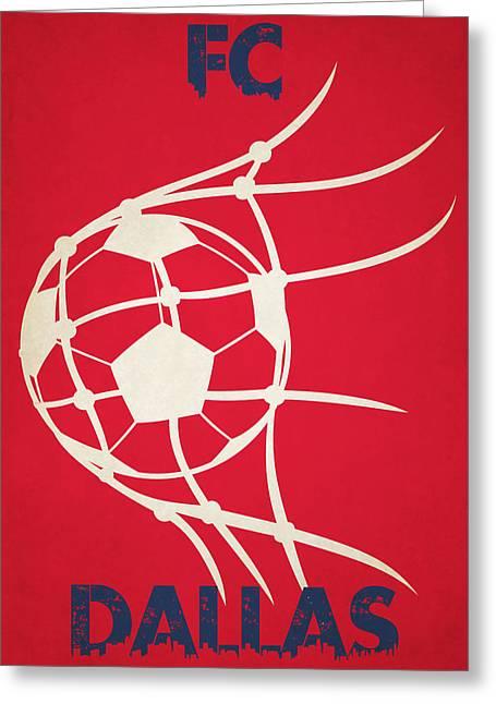 Goal Kick Greeting Cards - Fc Dallas Goal Greeting Card by Joe Hamilton