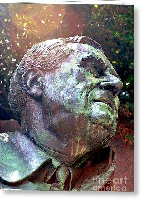 Fdr Memorial Greeting Card by Mike Baltzgar