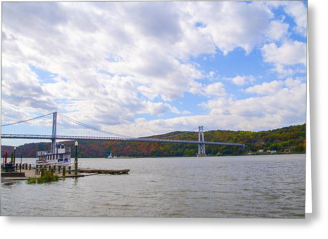 Franklin Roosevelt Digital Art Greeting Cards - FDR Mid Hudson Bridge - Poughkeepsie NY Greeting Card by Bill Cannon