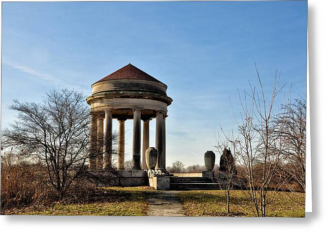 Franklin Roosevelt Greeting Cards - FDR Park Gazebo Greeting Card by Bill Cannon