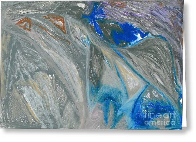Cave Pastels Greeting Cards - Fear Greeting Card by Jacques Retief