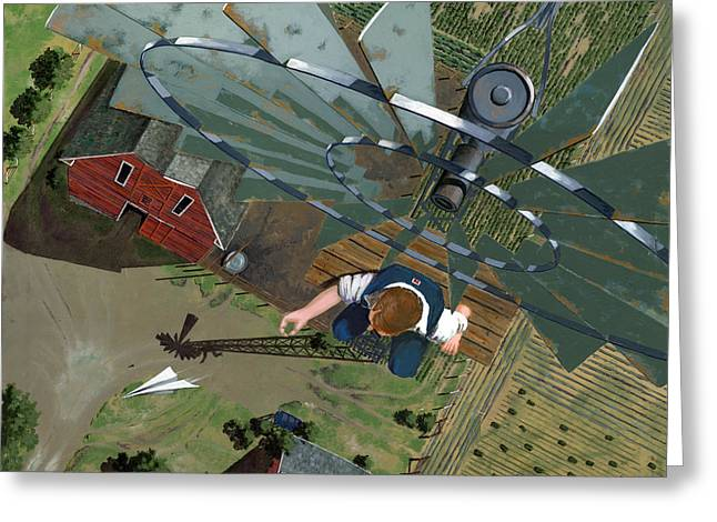 Crops Paintings Greeting Cards - Fearless Greeting Card by John Wyckoff