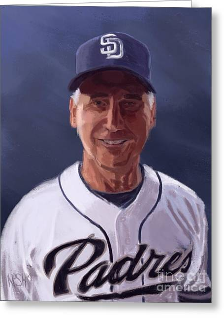 Petco Park Digital Art Greeting Cards - Fearless Leader Greeting Card by Jeremy Nash