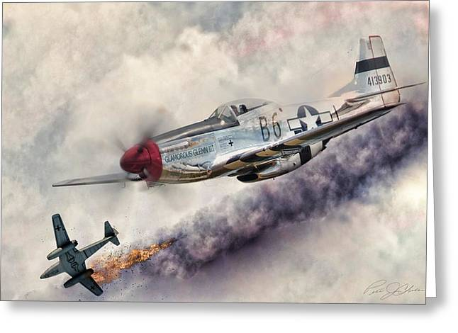 Me262 Greeting Cards - Fearless Greeting Card by Peter Chilelli
