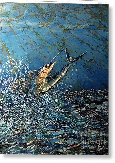 Aquatic Tapestries - Textiles Greeting Cards - Fearless  Greeting Card by Sue Duda
