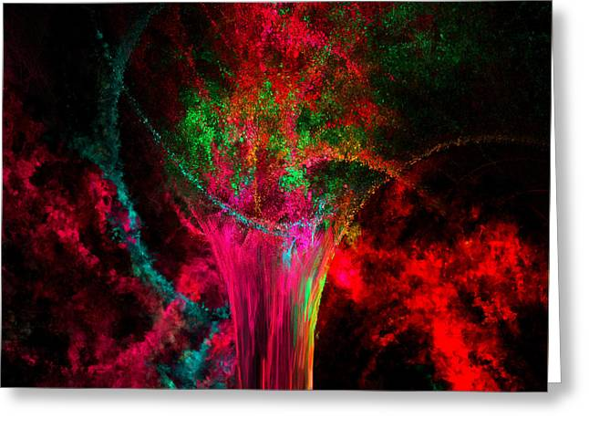 Abstract Impressionism Digital Art Greeting Cards - Feast For The Eye Greeting Card by Lourry Legarde