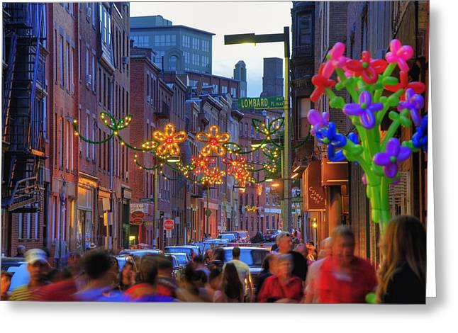 Boston North End Greeting Cards - Feast of Saint Anthony - Boston Greeting Card by Joann Vitali