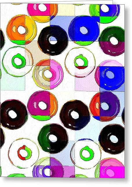 Abstract Style Greeting Cards - Feast Your Eyes Greeting Card by Florian Rodarte