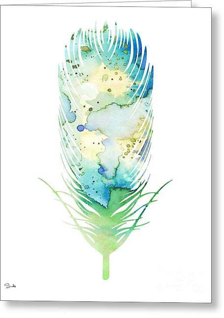 Feather Greeting Card by Luke and Slavi