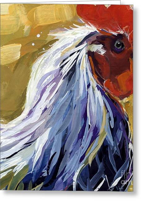 Chickens Greeting Cards - Feather Greeting Card by Molly Poole