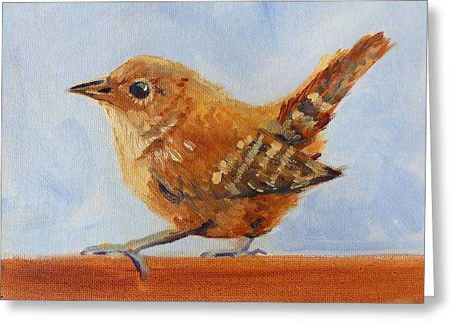 Flying Animal Greeting Cards - Feathered Greeting Card by Nancy Merkle