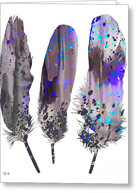 Feathers 2 Greeting Card by Luke and Slavi