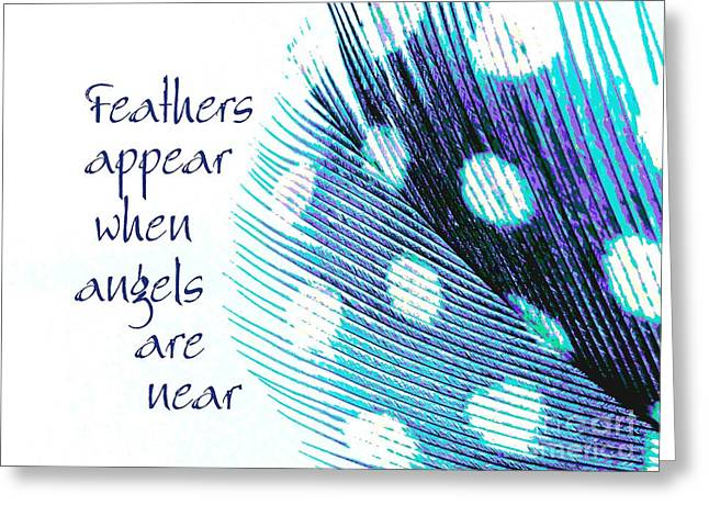 Feathers Appear Greeting Card by Sally Simon