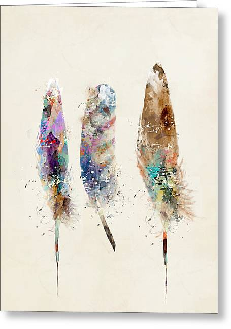 Eagle Feathers Greeting Cards - Feathers Greeting Card by Bri Buckley