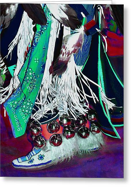 Wow Greeting Cards - Feathers Fringe and Bells Greeting Card by Kae Cheatham