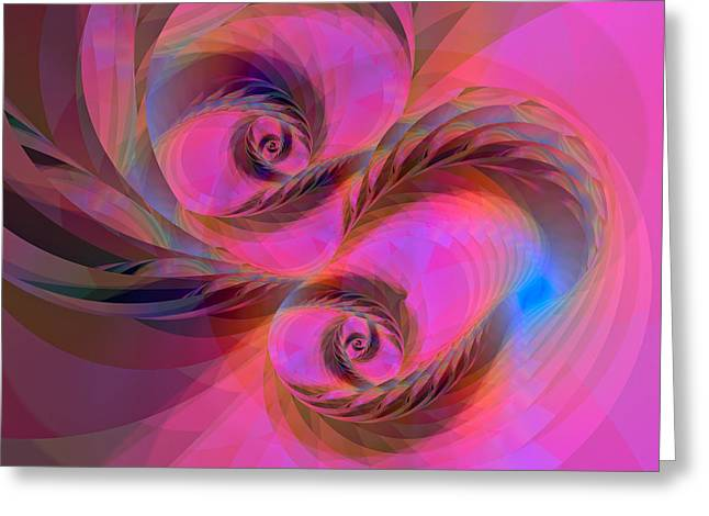 Algorithmic Abstract Greeting Cards - Feathers in the Wind Greeting Card by Judi Suni Hall