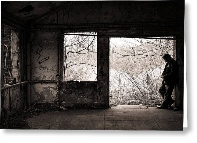 Introspective Greeting Cards - February - Comfortable Seclusion - Self Portrait Greeting Card by Gary Heller