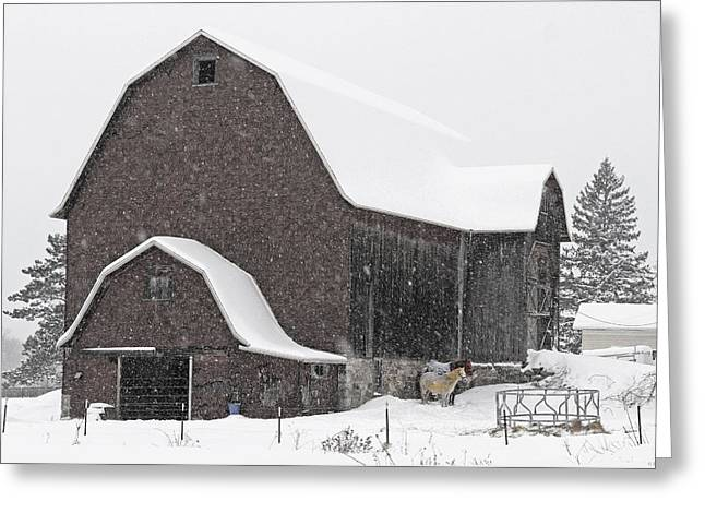 Cazenovia Greeting Cards - February in Pompey Hollow Greeting Card by John   Kennedy