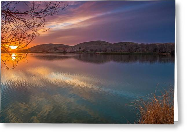 Branch Hill Greeting Cards - February Sunrise Greeting Card by Marc Crumpler