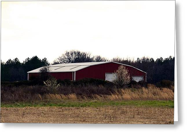 Maria Urso Greeting Cards - Februarys Red Barn Greeting Card by Maria Urso