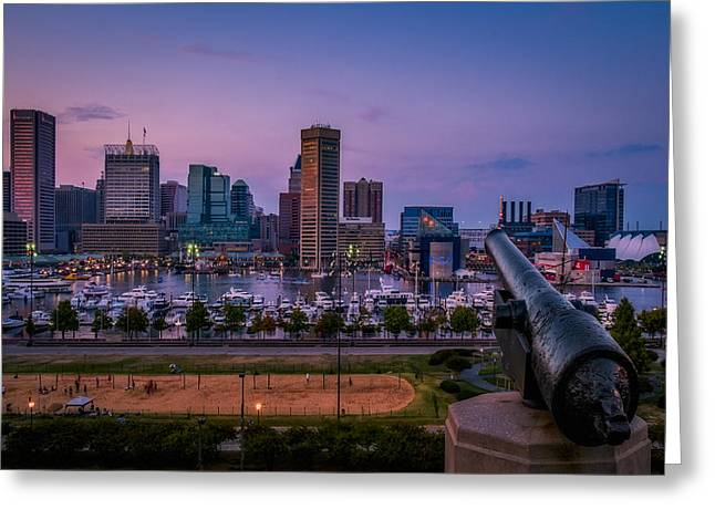 Recently Sold -  - Enhanced Greeting Cards - Federal Hill In Baltimore Maryland Greeting Card by Susan Candelario