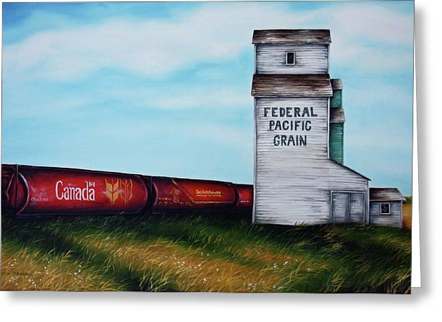 Federal Greeting Cards - Federal Pacific Grain Greeting Card by Kristina Steinbring