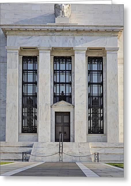 Enterprise Greeting Cards - Federal Reserve Greeting Card by Susan Candelario