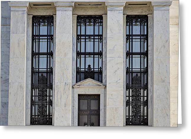 Federal Reserve Greeting Card by Susan Candelario