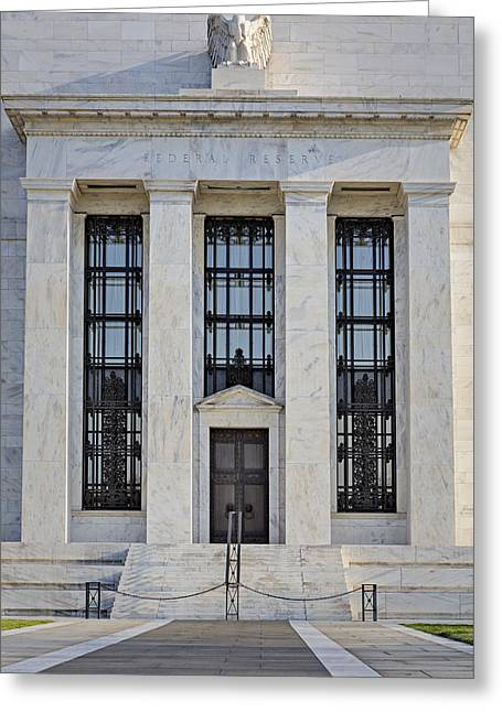 Enterprise Greeting Cards - Federal Reserve Greeting Card by Susan Candelario