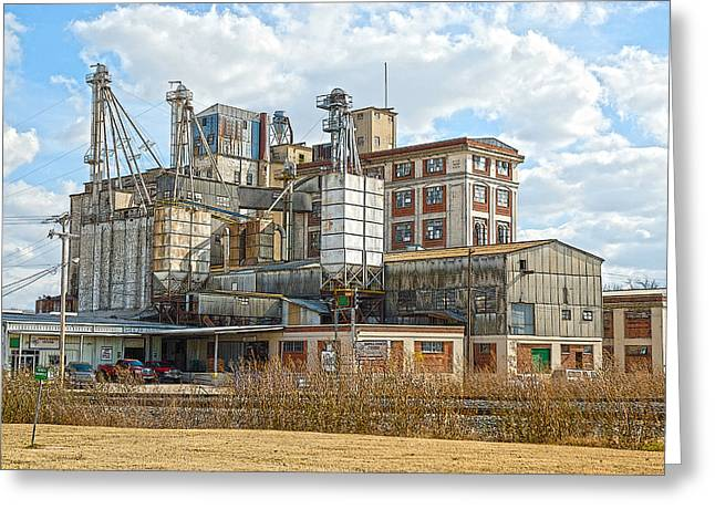 Feed Mill Hdr Greeting Card by Charles Beeler