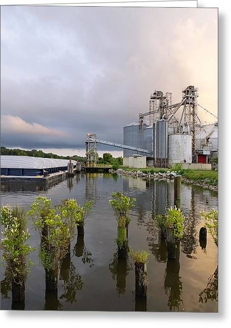 Feed Mill On The River Greeting Card by Francie Davis