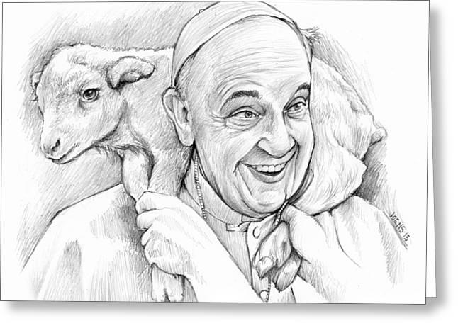 Feed My Sheep Greeting Card by Greg Joens