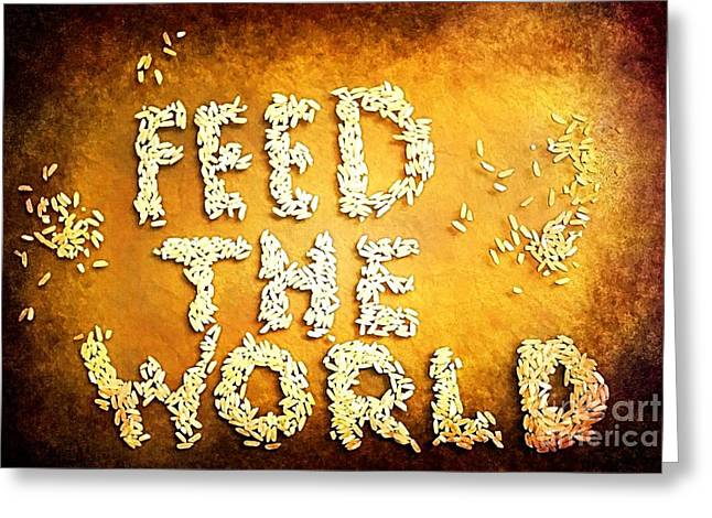 Feed The World Greeting Cards - Feed The World Greeting Card by Brian Raggatt