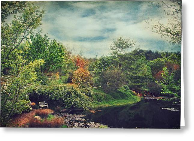 Peaceful Pond Greeting Cards - Feed Your Soul Greeting Card by Laurie Search