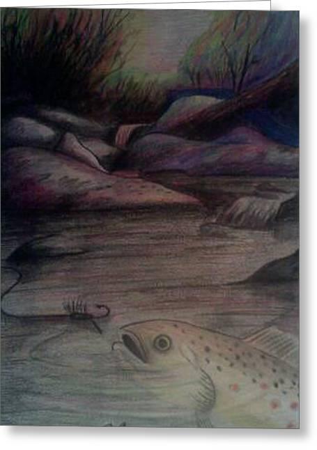 Fishing Creek Pastels Greeting Cards - Feeding At Sunset Greeting Card by Clayton Greene