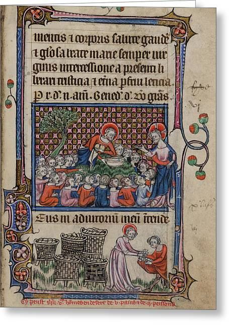 Feeding The Five Thousand Greeting Card by British Library